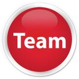 Team premium red round button Stock Image
