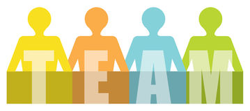 Team - Presentatiemalplaatje vector illustratie