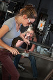 Team of Female Glass Artists Stock Photo