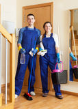 Team of professional cleaners Stock Photo