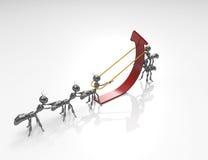 Team Pulling Up un Freccia-concetto royalty illustrazione gratis