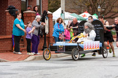 Team Pushes Bed Of Moses In Annual Fundraiser Race Royalty Free Stock Photos