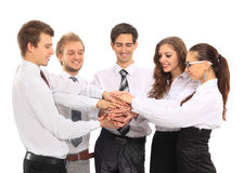 Team putting their hands Royalty Free Stock Photography