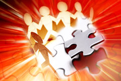 Team puzzle stock photography