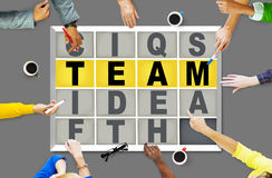 Team Puzzle Problem Solving Corporate Connection Concept Royalty Free Stock Images