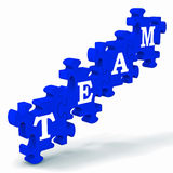 Team Puzzle Showing Partnership Royalty Free Stock Photo