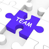 Team Puzzle Showing Partnership Teamwork Community And Unity Royalty Free Stock Image