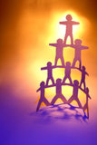 Team pyramid Royalty Free Stock Image