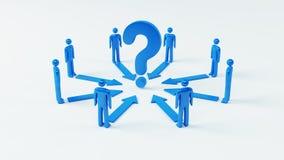 Team Question Fotografie Stock Libere da Diritti