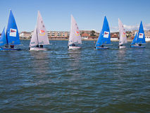 Team Racing Sailing Boats, England Stock Photo