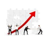 Team raise the statistics Stock Photography