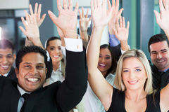Team raising hands Royalty Free Stock Photo