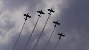 Team Raven Display at an Air Show. Team Raven Planes flying in formation at an air show in Dawlish England Stock Photography