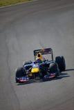 Team Red Bull dat F1, Teken Webber, 2011 rent Stock Foto
