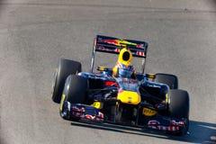 Team Red Bull dat F1, Teken Webber, 2011 rent Royalty-vrije Stock Afbeelding