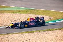 Team Red Bull dat F1, Teken Webber, 2011 rent Stock Fotografie