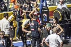 Team Red Bull en la rejilla Imágenes de archivo libres de regalías