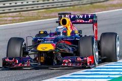 Team Red Bull F1, Sebastian Vettel, 2013 Stock Photography
