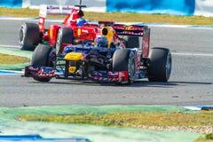 Team Red Bull F1, Sebastian Vettel, 2012 Stock Images