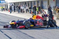 Team Red Bull F1, Teken Webber, 2012 Royalty-vrije Stock Afbeeldingen