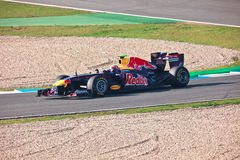 Team RedBull Racing F1, Mark Webber, 2011 Lizenzfreies Stockfoto