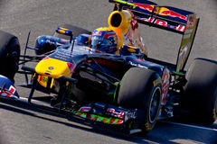Team RedBull Racing F1, Mark Webber, 2011 Royalty Free Stock Photos