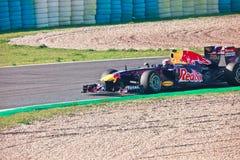 Team RedBull Racing F1, Mark Webber, 2011 Royalty Free Stock Image