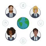 Team of remote workers on a business project Stock Photography