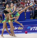 Team Republic of Korea Rhythmic Gymnastics stock photos
