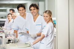 Team Of Researchers In Laboratory Stock Image
