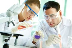 Team of researchers Stock Photography