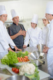 Team restaurant chef helping each other royalty free stock photos