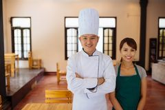 Team of restaurant workers Stock Images