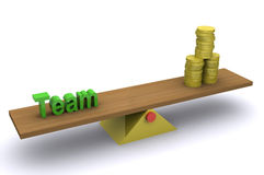 Team - Rijkdom stock illustratie