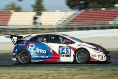 Team Rimo Honda Civic 24 Stunden von Barcelona Trophäe Fermi Velez Lizenzfreies Stockbild