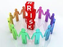 Team Risk Management Fotografie Stock