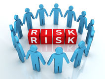 Team Risk Management. 3d render Team Risk Management (close-up Royalty Free Stock Photo