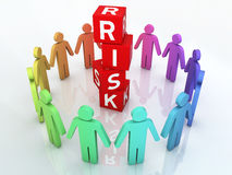 Team Risk Management. 3d render Team Risk Management (close-up Stock Photos