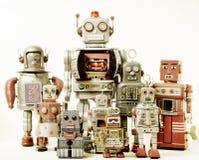 Team. A robot team concept  toned image Stock Photos