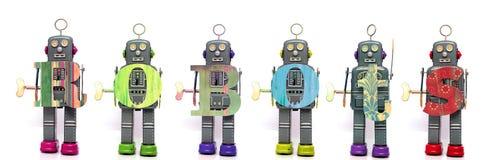 Team robot Royalty Free Stock Image