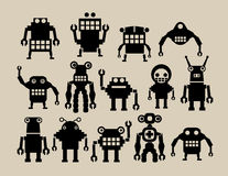 A team of robots. (vector Royalty Free Stock Photo