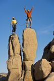 Team of rock climbers. Royalty Free Stock Photos