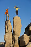 Team of rock climbers. stock image