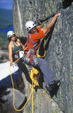 Team of rock climbers. Stock Photos