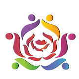 Team rose logo vector Royalty Free Stock Photography