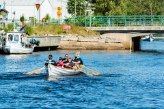Team of rowers Royalty Free Stock Photo