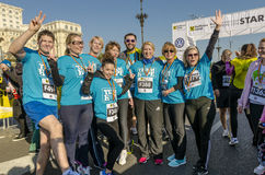 Team of runners stock images