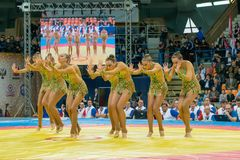 Team of Russia on aesthetic gymnastics Royalty Free Stock Photography