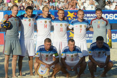 Team Russia in the Euro Beach Soccer League Moscow 2014 Royalty Free Stock Image