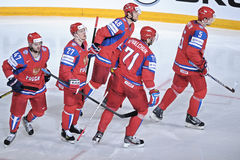 Team Russia-ijshockeyteam Stock Fotografie